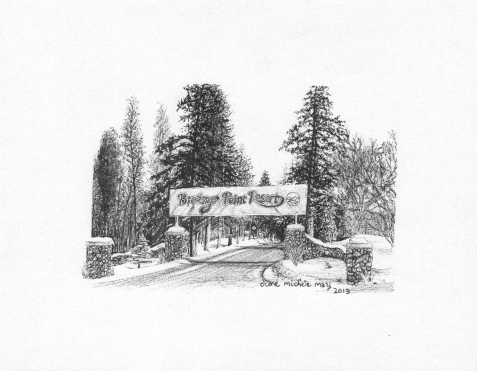 Breezy Point Resort Sign, 100res, grey