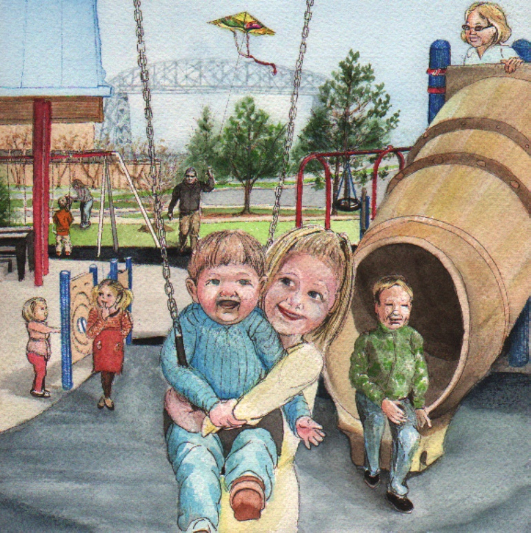 Children's Book- Children Playing