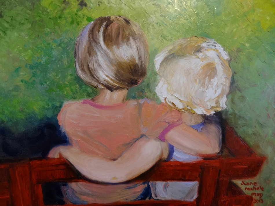 Kate and Rachel Keck Oil Painting- Final