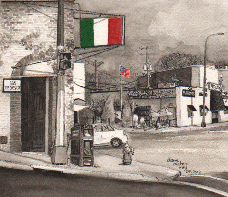 The Italian-American Corner; Morelli's and Yarusso's, 24bit, 100res